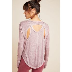 NEW Free People Movement Lay Up Tee Cut Out Gypsum